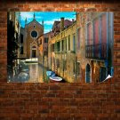 Venice Italy Canal Buildings Boats Tv Movie Art Poster 36x24 inch