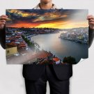 Buildings River Sunset Tv Movie Art Poster 36x24 inch