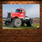 Semi Truck Monster Truck Monster Tv Movie Art Poster 36x24 inch