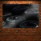 Wheels Tires Formula One F1 Tv Movie Art Poster 36x24 inch