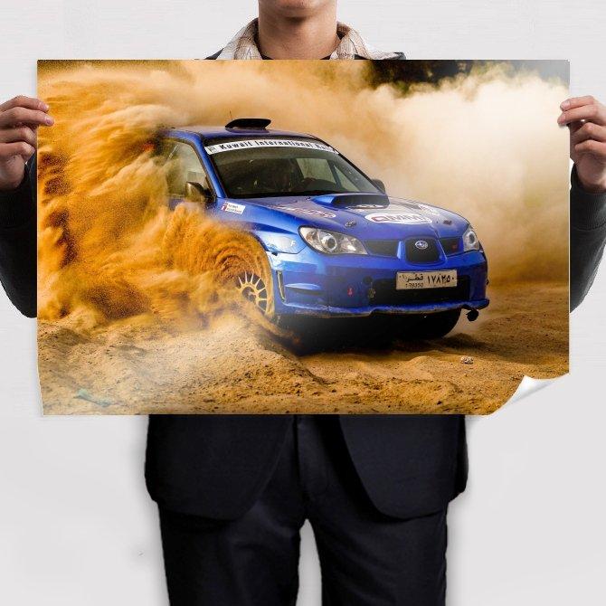Subaru Wrx Sti Rally Dirt Tv Movie Art Poster 36x24 inch