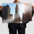 New York Buildings Skyscrapers Sunlight Street Tv Movie Art Poster 36x24 inch