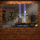 World Trade Centers Light New York Night Tv Movie Art Poster 36x24 inch