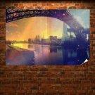 Bridge Buildings Water River Tv Movie Art Poster 36x24 inch