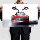 Mercedes Gullwing Sls Amg Tv Movie Art Poster 36x24 inch