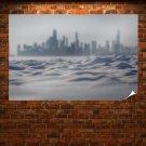 Snow Winter Buildings Skyscrapers Tv Movie Art Poster 36x24 inch