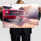 Ford Mustang Warm Classic Car Classic Tv Movie Art Poster 36x24 inch