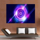 Abstract Purple  Art Poster Print  36x24 inch