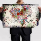Abstract Heart  Art Poster Print  36x24 inch