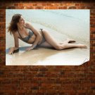 Sexy Brown Haired Girl  Art Poster Print  36x24 inch