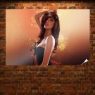 Abstract Girl  Art Poster Print  36x24 inch