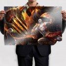 God Of War Fighting  Art Poster Print  36x24 inch