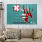 Video Game Resident Evil Hd  Art Poster Print  36x24 inch