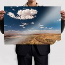 Deep Blue Sky  Art Poster Print  36x24 inch