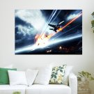 Cool Aircraft  Art Poster Print  36x24 inch
