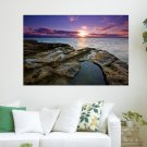Auckland Sunset  Art Poster Print  36x24 inch