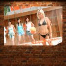 Volleyball Chick Wds  Art Poster Print  36x24 inch