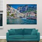 Amalfi Italy  Art Poster Print  36x24 inch