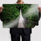 Hanged Bridge In The Jungle Wide  Art Poster Print  36x24 inch