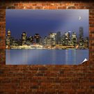 Vancouver Night  Art Poster Print  36x24 inch