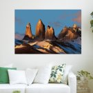 Snow Rocks  Art Poster Print  36x24 inch