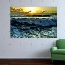 Ocean Waves  Art Poster Print  36x24 inch