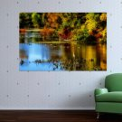 Fall In The Woods  Art Poster Print  36x24 inch