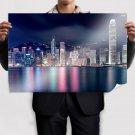 Hong Kong Nightview  Art Poster Print  36x24 inch