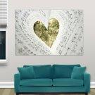Love Music Hd  Art Poster Print  36x24 inch