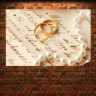 Engagement Rings Background Art Poster Print  36x24 inch