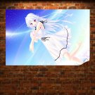 A Beautiful Girl And Her Pet  Art Poster Print  36x24 inch