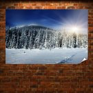 Winter Sunshine Hd  Art Poster Print  36x24 inch
