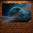 Sea Planet  Art Poster Print  36x24 inch