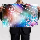 Colorful Christmas  Art Poster Print  36x24 inch