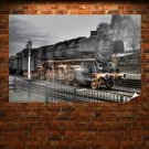 Old Train  Art Poster Print  36x24 inch