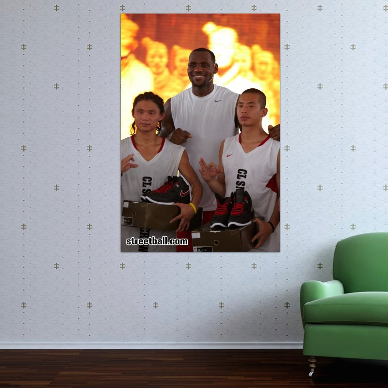 Lebron James Xian Day 8 Art Poster Print  36x24 inch