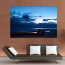 Mimizan Surfing Sunset  Art Poster Print  36x24 inch
