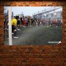 Lebron James Soccer Art Poster Print  36x24 inch