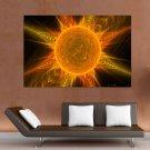 Sun God Fractal Art  Art Poster Print  36x24 inch