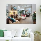 Living Room  Art Poster Print  36x24 inch
