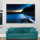 Deep Blue Night  Art Poster Print  36x24 inch