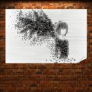 Abstract Girl With Wings  Art Poster Print  36x24 inch