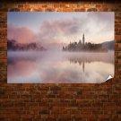 Dawn Mist  Art Poster Print  36x24 inch