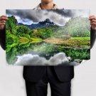 River In Jungle  Art Poster Print  36x24 inch