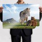 Hill Horses S Art Poster Print  36x24 inch