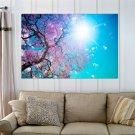 Beautiful Tree Blossom  Art Poster Print  36x24 inch