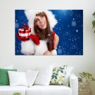 She Is Santa Claus S Art Poster Print  36x24 inch