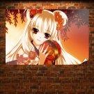 Kimono Kuramoto Kaya Red Eyes  Art Poster Print  36x24 inch