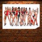 Sexy Models Hd  Art Poster Print  36x24 inch