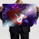 Aria Guitar  Art Poster Print  36x24 inch